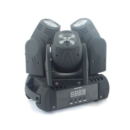 Moving Head cu 3 beam-uri 3×10W RGBW